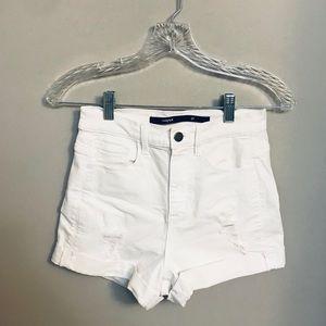 SOLD — White denim shorts